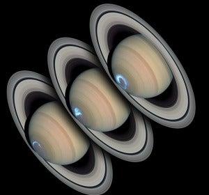 Auroras en la atmósfera de Saturno