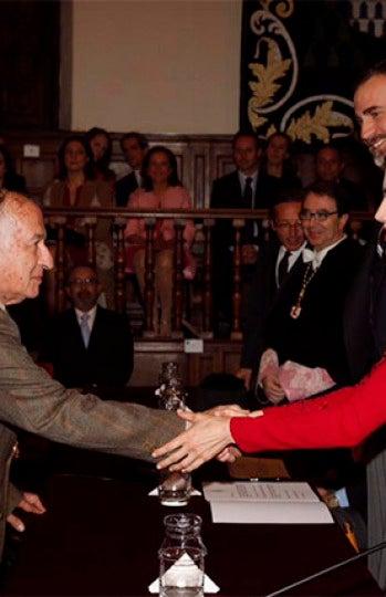 Goytisolo recibe el Premio Cervantes.