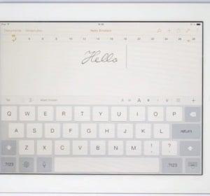 Letra de Einstein en un iPad