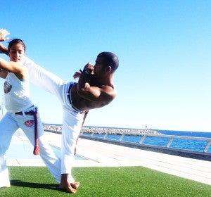 Marina Campos y Eduardo Araujo, Profesor Tico de Abada Capoeira