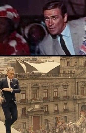 Sean Connery y Daniel Craig como agentes 007