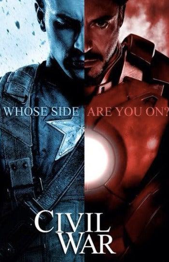 Iron Man vs. Capitán América en 'Ciivil War'