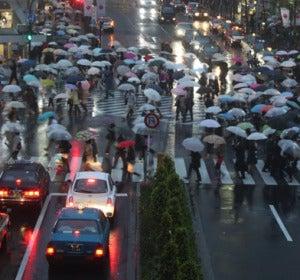 Tokio, un día de lluvia