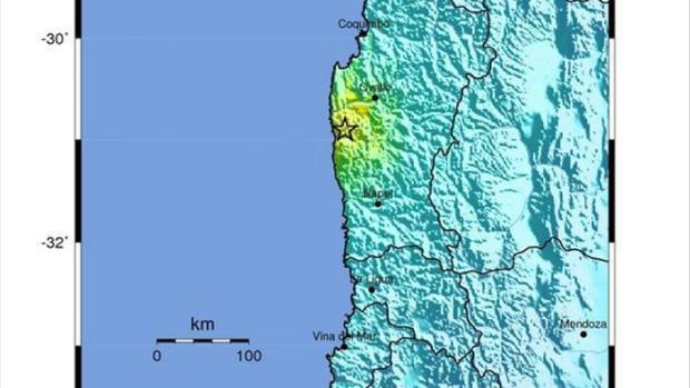 magen del USGS que muestra el epicentro del terremoto