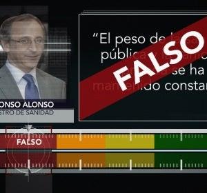 Resultado de la prueba de verificación a Alfonso Alonso