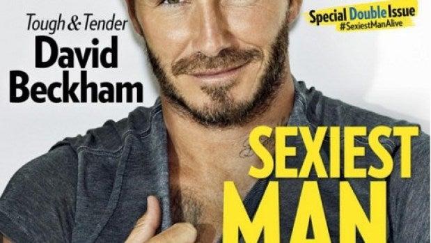 David Beckham es el hombre más sexy