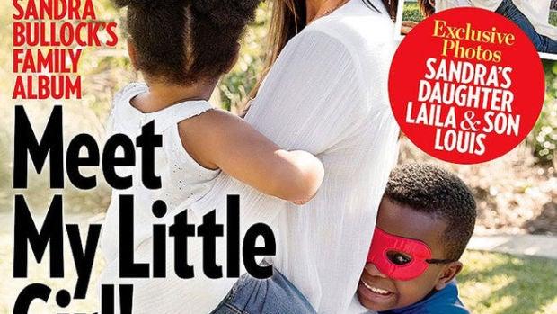 Sandra Bullock con sus hijos en People