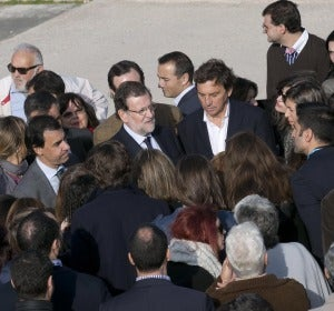 Rajoy, junto a los periodistas
