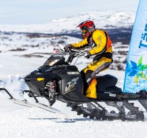 Exhibición de motos de nieve en Funäsfjällen
