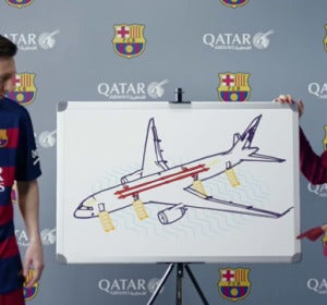 Messi en el vídeo de Qatar Airways