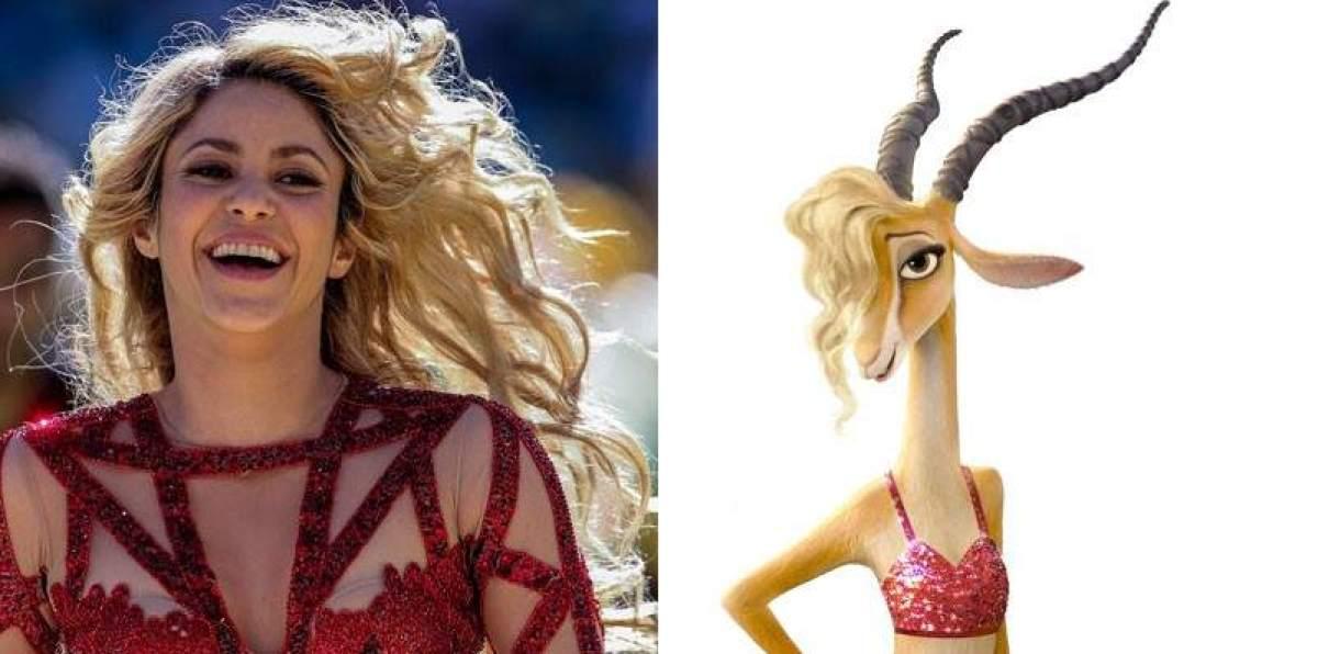 Shakira en Zootopia de Disney