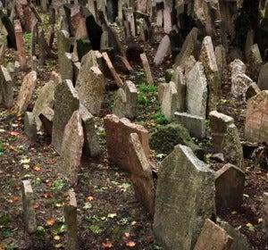 Antiguo Cementerio Judío en Praga (Europa)