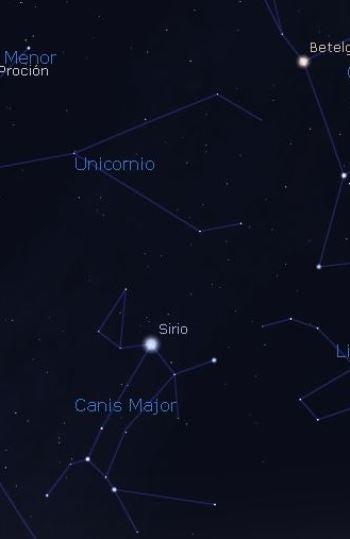 Constelación del Unicornio o MonocerosConstelación del Unicornio o Monoceros