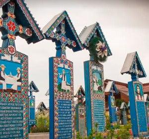 Cementerio alegre de Sapantza, Rumanía