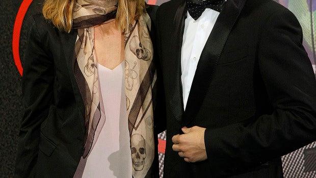 Jorge Lorenzo y su novia en la presentación de