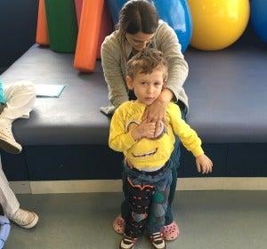 Álvaro, con tres años padece una AME