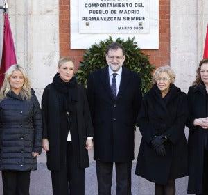 Rajoy, Carmena, Cifuentes junto a las asociaciones de Víctimas