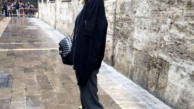 Blanca Suárez por las calles de Valencia