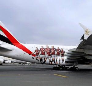 Emirates Airbus A380 AC Milan
