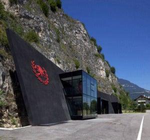 Puesto de bomberos de Margreid, en Tirol del Sur (Italia)