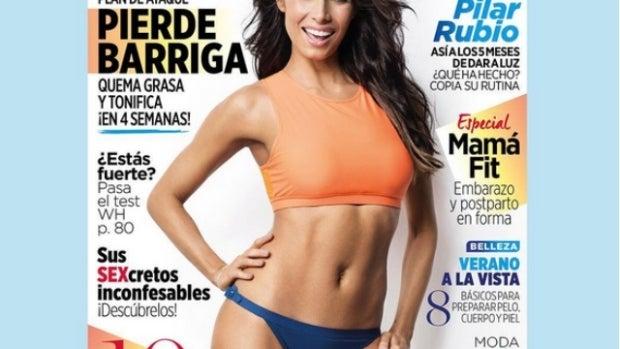 Pilar Rubio en la portada de Women's Health