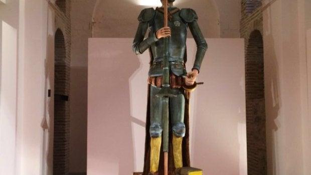Un Quijote de mazapán, 3,60 metro de altura y 600 kilos