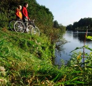 Río Ems en la llanura de Münster