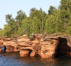 Grutas en las islas Apostol de Wisconsin
