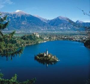 Isla de Bled, en el centro de Eslovenia