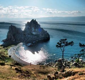 Isla de Oljón, en Rusia