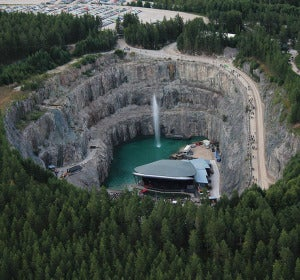 Escenario del festival Into The Valley en Dalhalla (Suecia)