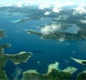 Vistas aéreas de las islas