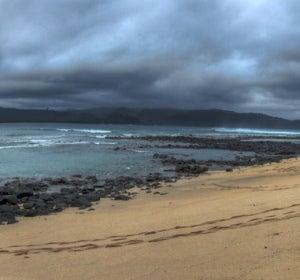 Una playa de Santo Tomé y Príncipe