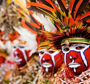 Una de las 1.000 culturas tribales distintas de Papua