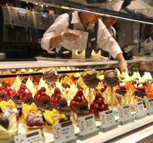 Mostrador de la pastelería del Bellagio