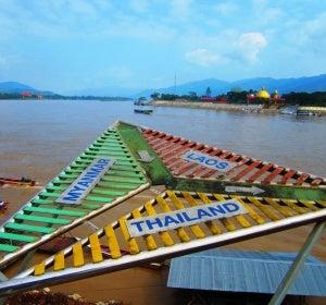 El Triángulo Dorado que une Laos, Myanmar y Tailandia