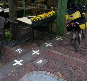 Cruces que delimitan Bélgica y Holanda