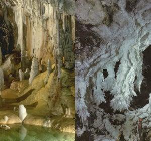 Estalagmitas y estalactitas de la cueva Lechuguilla