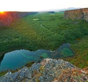 El cañón de Asbyrgi