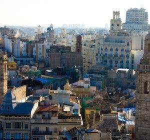 Vistas desde el Miguelete, el campanario de la Catedral de Valencia