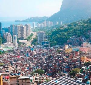Las favelas están en las colinas y son muy peligrosas