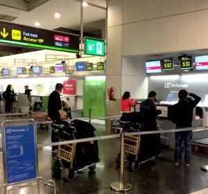 Mostradores de Air Europa en Barajas