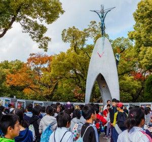 Monumento a los niños en el Parque de la Paz
