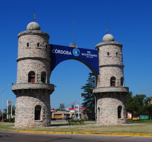 Entrada a Córdoba, en Argentina