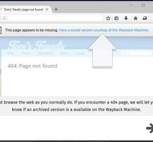 El mensaje que se muestra cuando accedes a una web que ya no existe