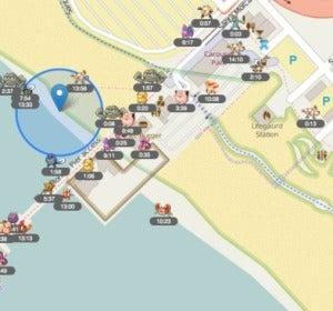 FastPokeMap en la playa de Santa Mónica