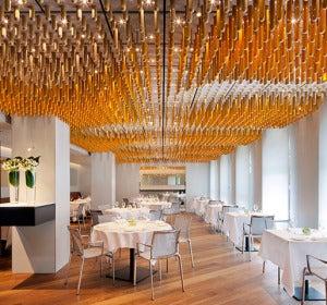 Comedor del restaurante Ametsa de Londres