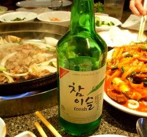 Soju, bebida destilada de arroz