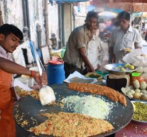 Puesto callejero en Bombay