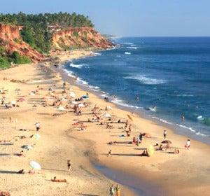Playa de Varkala, en Kerala (India)